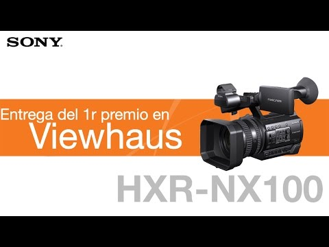 Entrega de la HXR-NX100 de Sony en Viewhaus