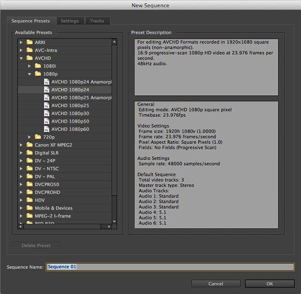 Secuencias Premiere CS6